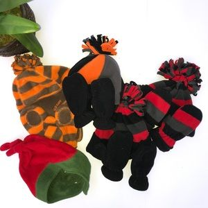10 Piece Bundle Toddler Hats And Mittens!